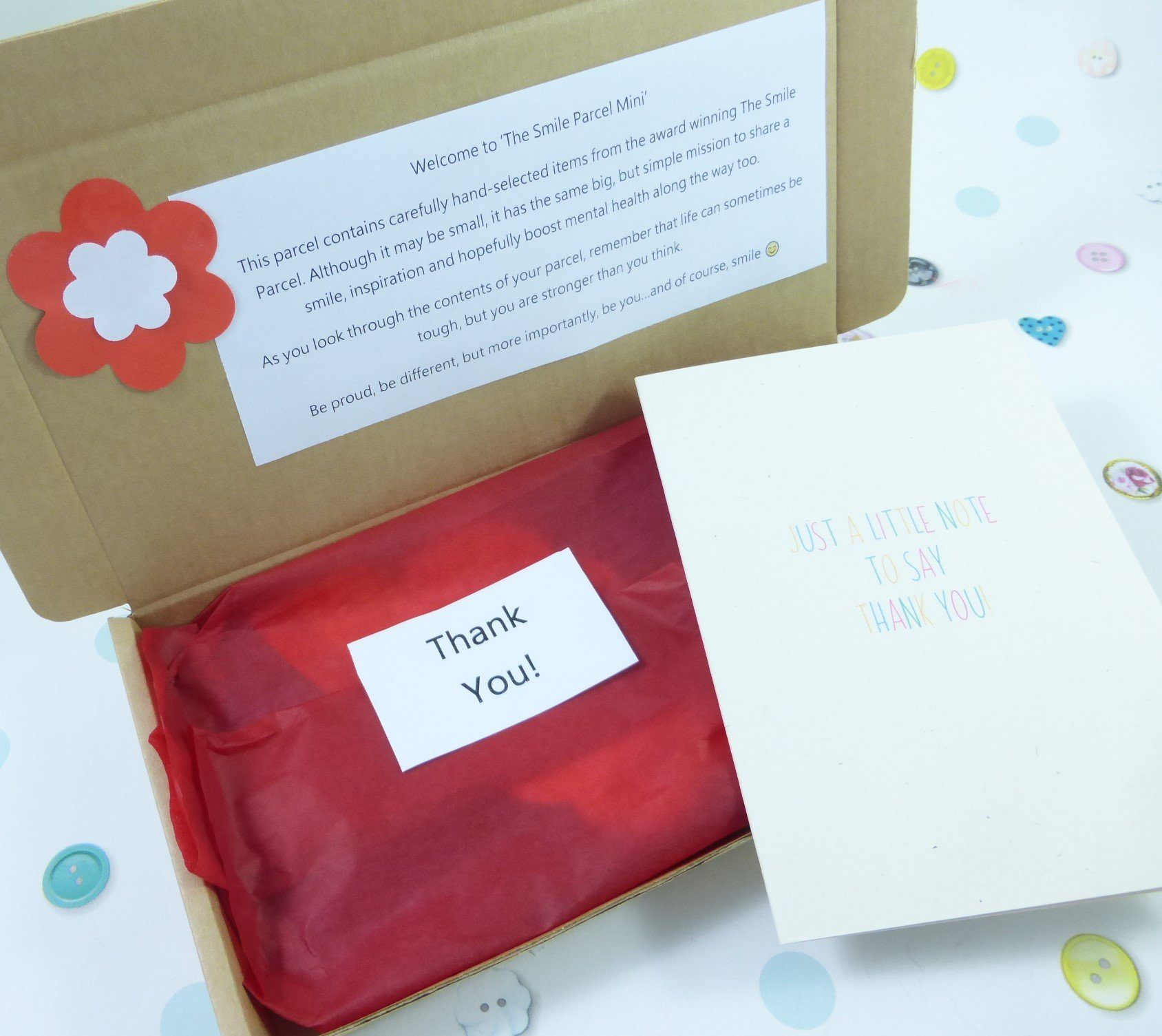 Thank You Gift, Letterbox Friendly, Pick Me Up Gift, The Smile Parcel Mini, Self Care Box, Mental Health Gift Kind Shop