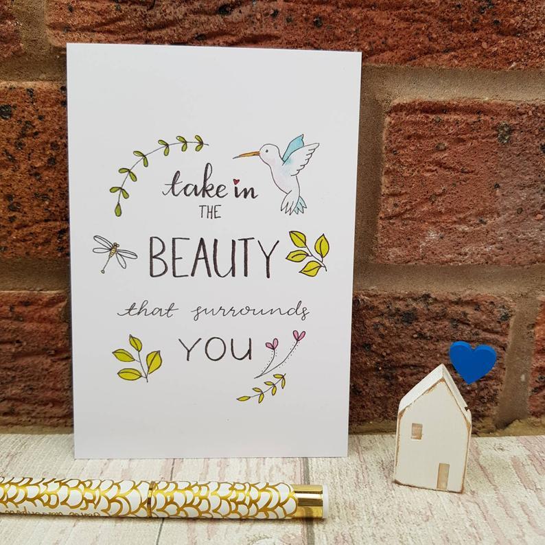 Positive Postcards Set, Simple Pleasures Inspirational Quotes for Self Care & Motivation Kind Shop 5