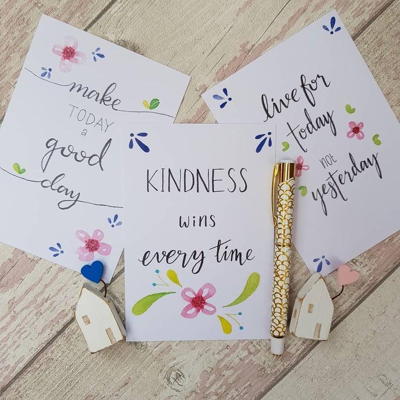 Positivity Postcards Set Make Today a good day