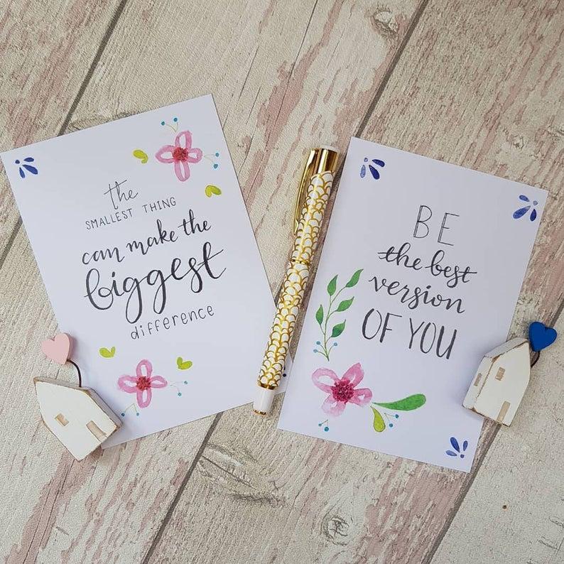 Positivity Postcards Set best version of you