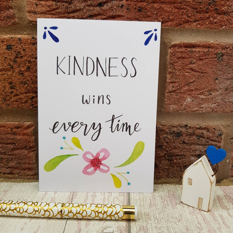 Positivity Postcards Set kindness wins everything quote