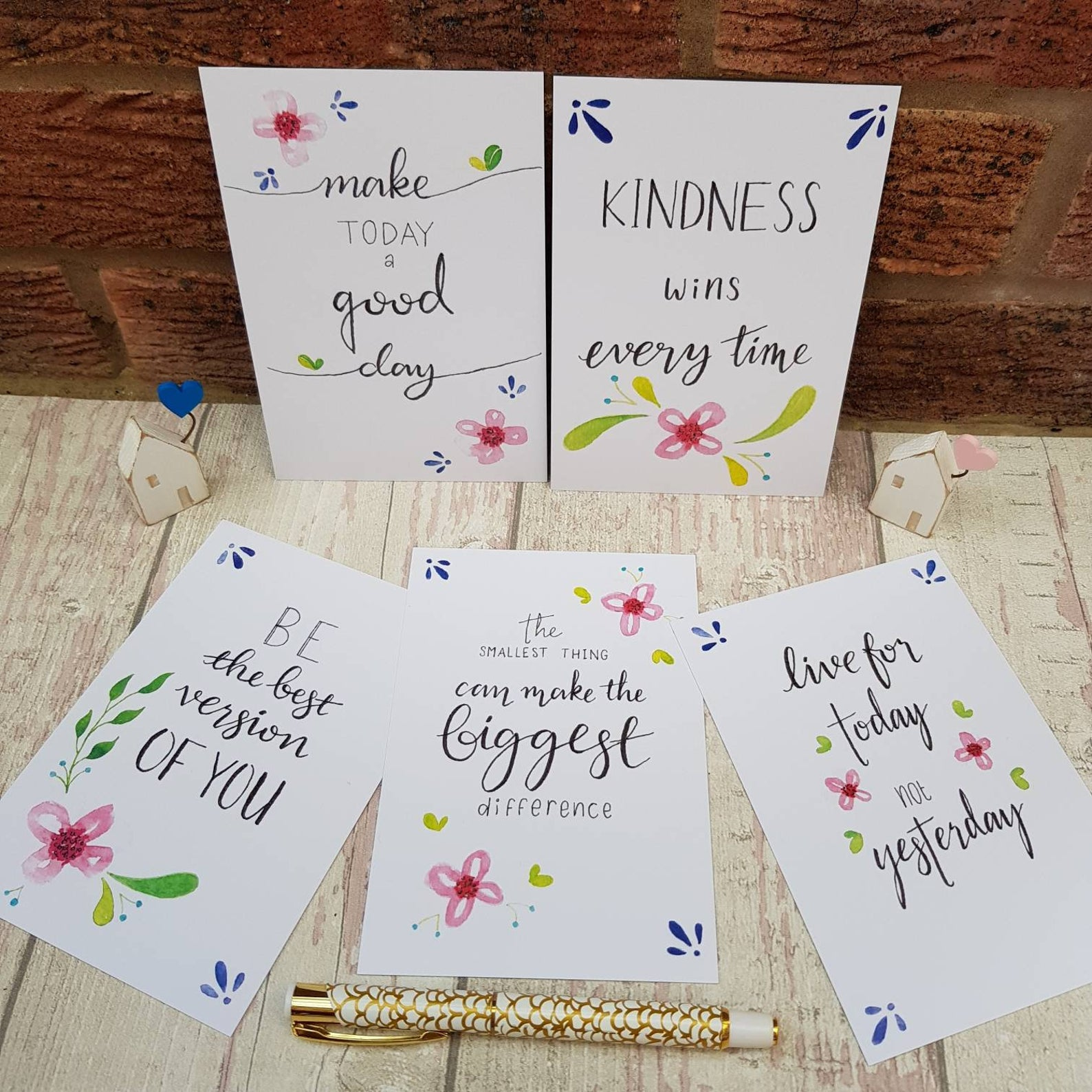 Positivity Postcards Set kindness wins
