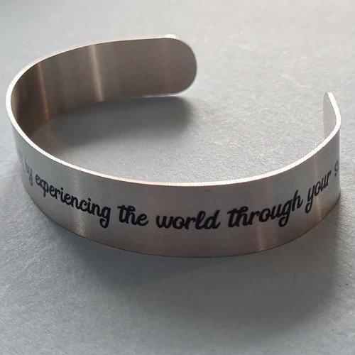 Quote Bracelet Grounding Mantra Band Bangle Cuff