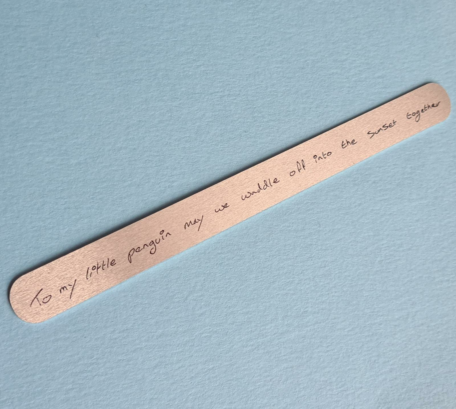 Quote Bracelet Mantra Band Bangle Personalised Message