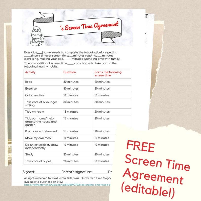 Screen Time Chart Free