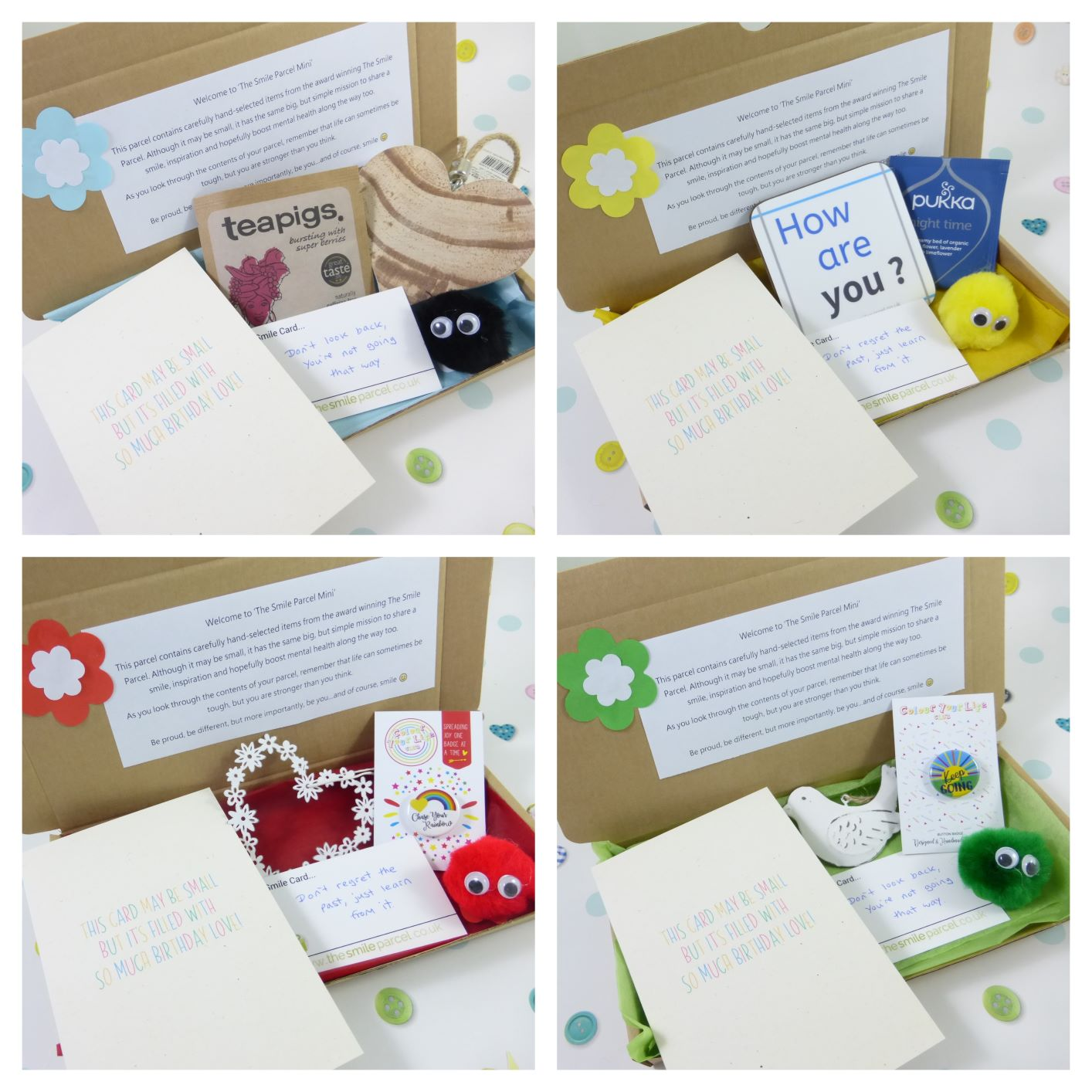 Happy Birthday, Letterbox Friendly, Pick Me Up Gift, The Smile Parcel Mini, Birthday Gift, Happy Mail, Mental Health Gift Kind Shop 3