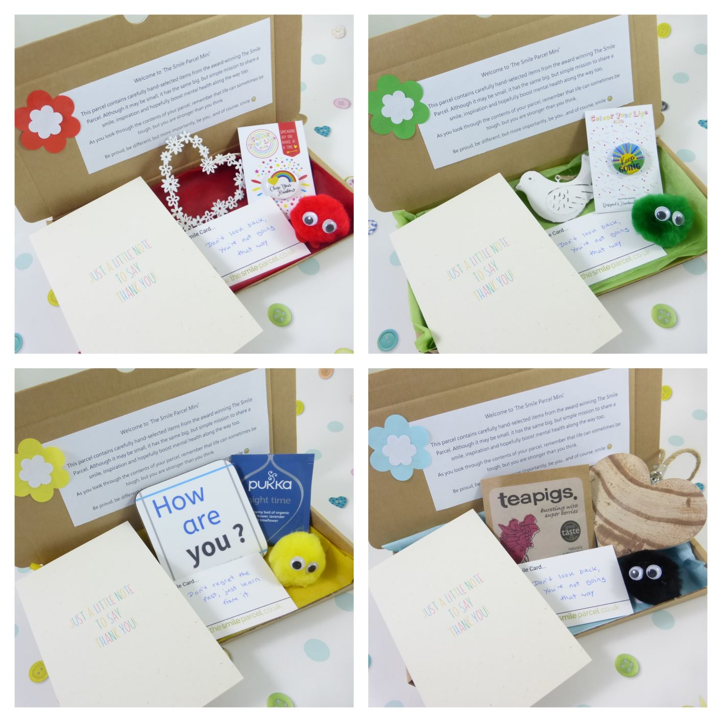 Thank You Gift, Letterbox Friendly, Pick Me Up Gift, The Smile Parcel Mini, Self Care Box, Mental Health Gift Kind Shop 3