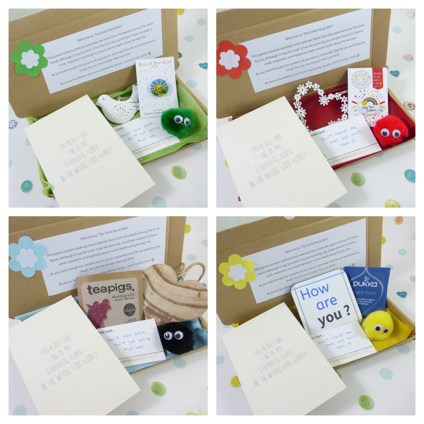 Best Friend Gift, Letterbox Friendly, Pick Me Up Gift, The Smile Parcel Mini, Self Care Box, Mental Health Gift, Just Because Kind Shop 3