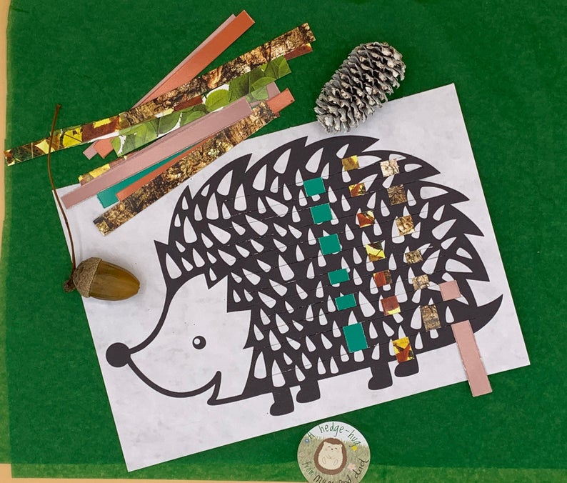 activity pack for children hedgehog