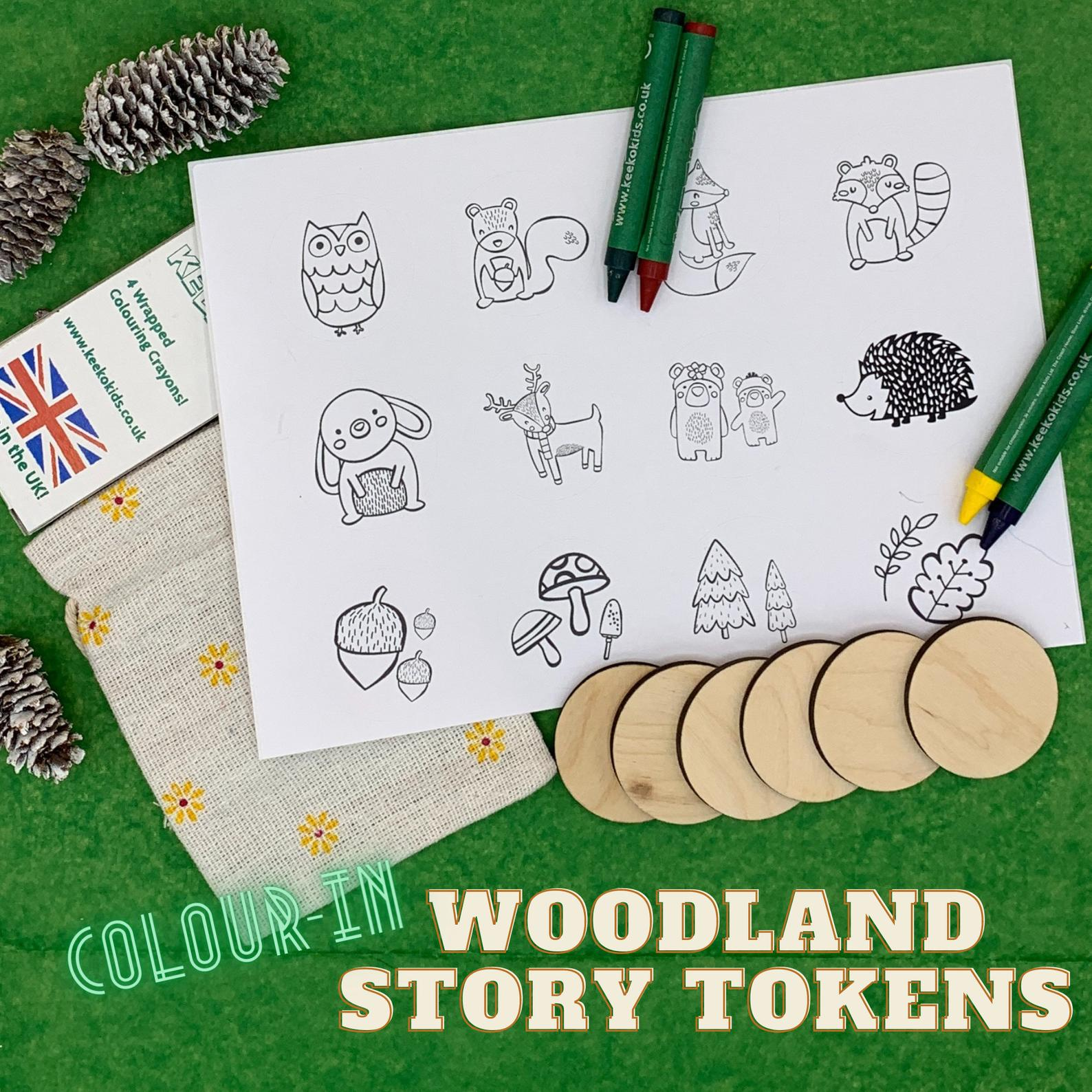 eco story tokens child storytelling game nature