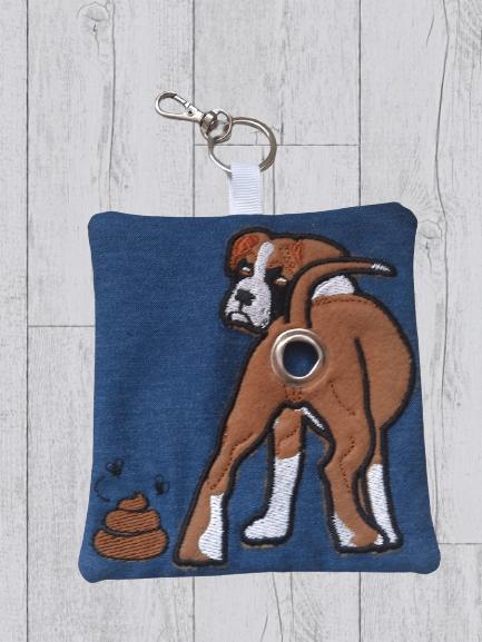 Boxer Eco Plastic Free Dog Poo Bag Holder – Brown & White Kind Shop 2
