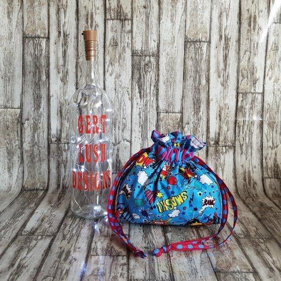 Comic Strip Eco-Friendly Reusable Drawstring Gift Bag Storage Bag Kind Shop 3