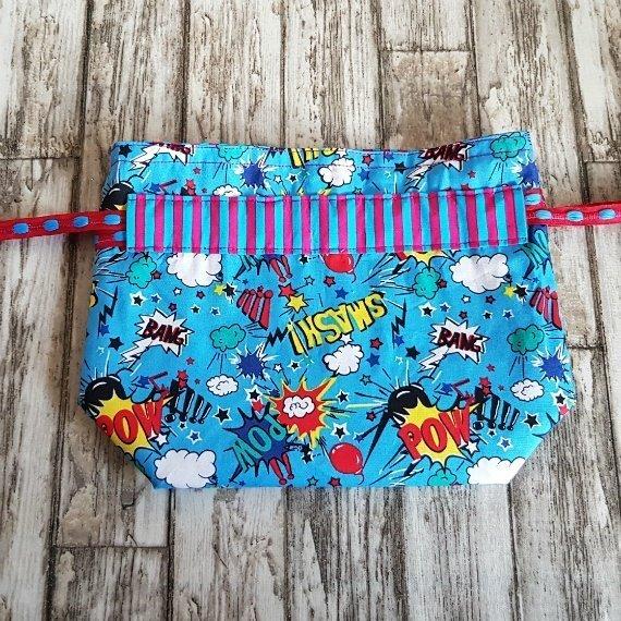 Comic Strip Eco-Friendly Reusable Drawstring Gift Bag Storage Bag Kind Shop 4