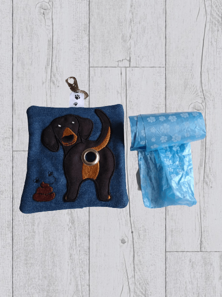 Dachshund Eco Plastic Free Dog Poo Bag Holder – Black & Tan Kind Shop