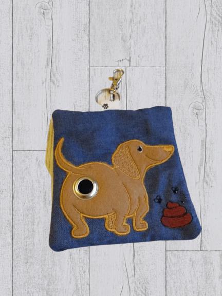 Dachshund Eco Plastic Free Dog Poo Bag Holder – Light Brown Kind Shop 2