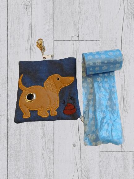 Dachshund Eco Plastic Free Dog Poo Bag Holder – Light Brown Kind Shop