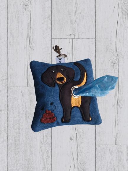Dachshund Eco Plastic Free Dog Poo Bag Holder – Black & Tan Kind Shop 3