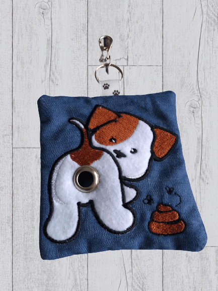 Cute Eco Plastic Free Dog Poo Bag Holder – Brown & White Kind Shop 3