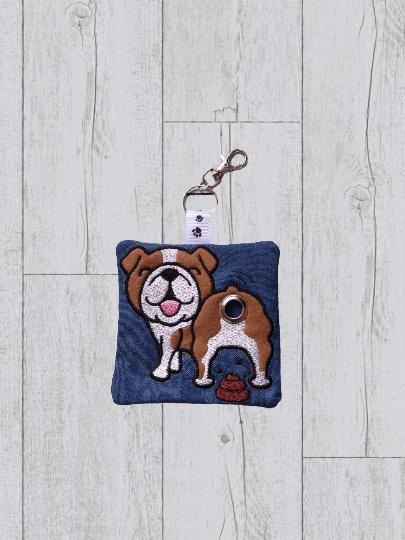 British Bulldog Eco Plastic Free Dog Poo Bag Holder – Brown & White Kind Shop