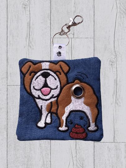 British Bulldog Eco Plastic Free Dog Poo Bag Holder – Brown & White Kind Shop 2