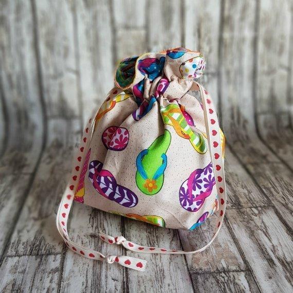 Flip Flops Eco-Friendly Reusable Drawstring Gift Bag Storage Bag Kind Shop