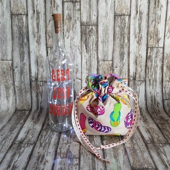 Flip Flops Eco-Friendly Reusable Drawstring Gift Bag Storage Bag Kind Shop 3