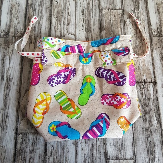 Flip Flops Eco-Friendly Reusable Drawstring Gift Bag Storage Bag Kind Shop 4