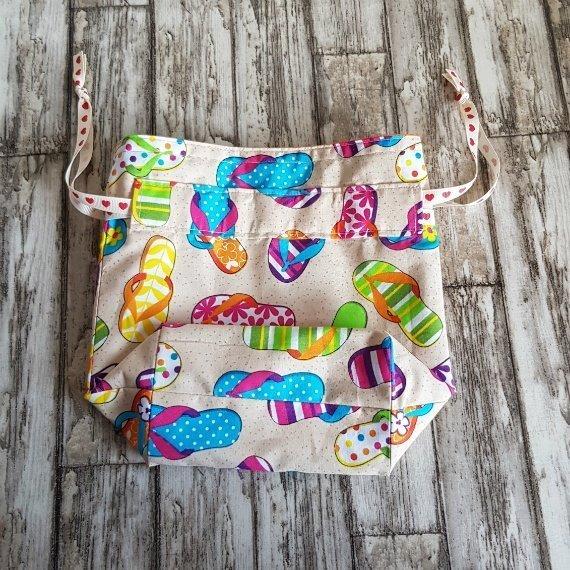 Flip Flops Eco-Friendly Reusable Drawstring Gift Bag Storage Bag Kind Shop 5