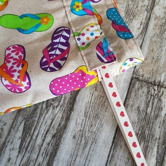 Flip Flops Eco-Friendly Reusable Drawstring Gift Bag Storage Bag Kind Shop 6