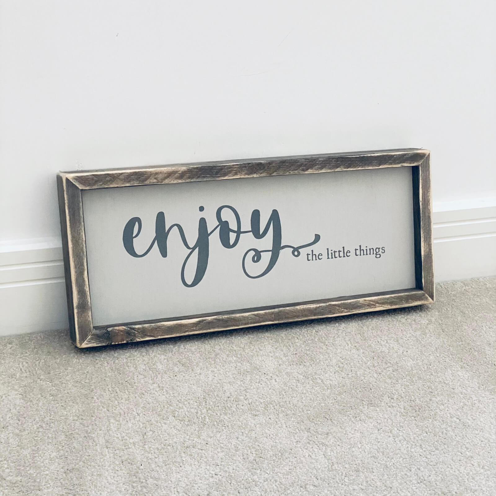 Enjoy The Little Things – Framed Wooden Sign Kind Shop