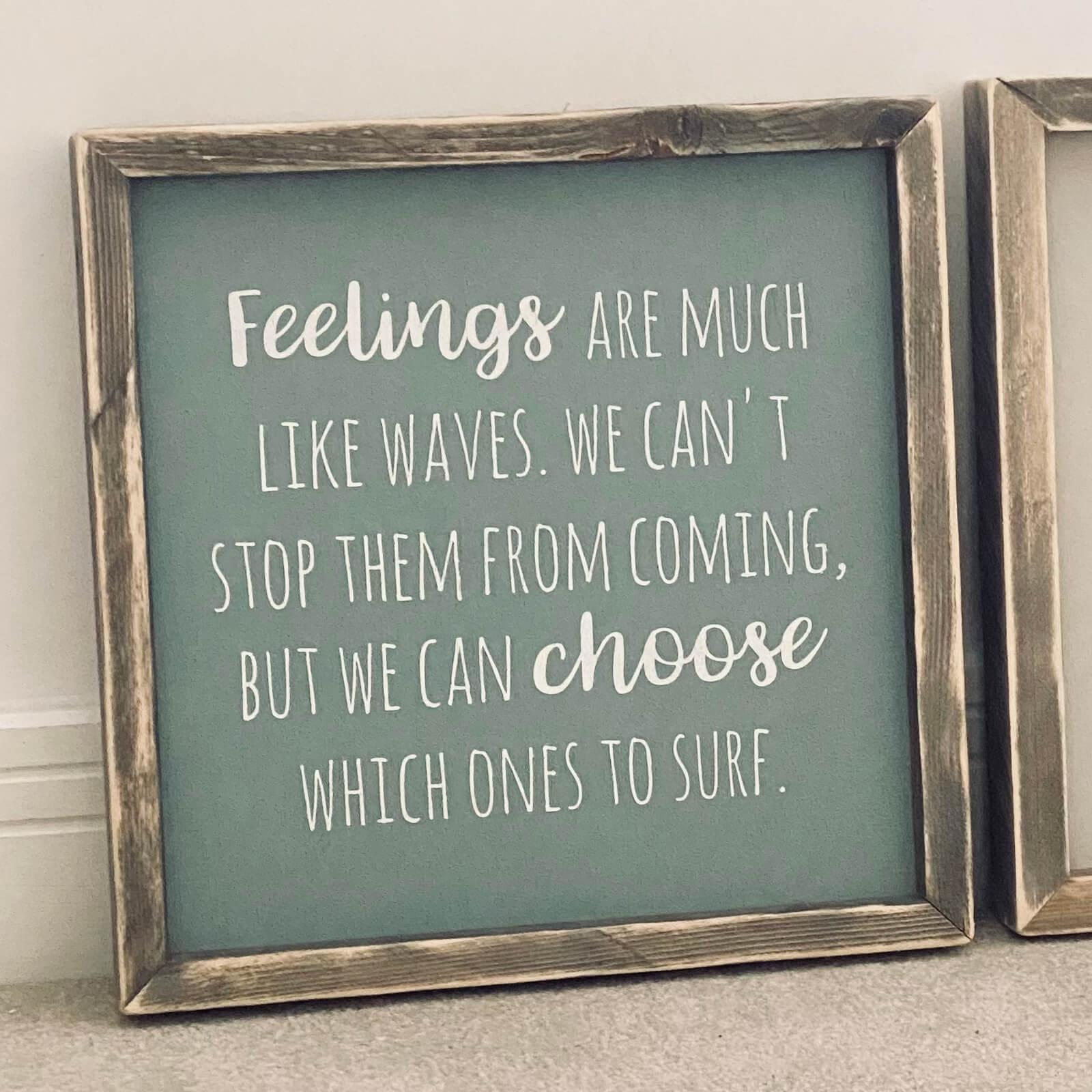 Framed inspirational positive wooden sign