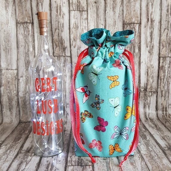 Handmade Butterfly Eco-Friendly Reusable Drawstring Gift / Storage Bag Kind Shop 3