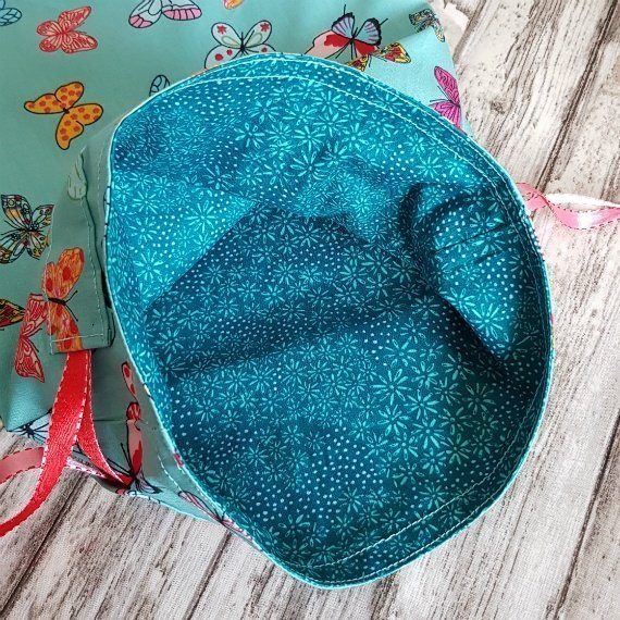 Handmade Butterfly Eco-Friendly Reusable Drawstring Gift / Storage Bag Kind Shop 8