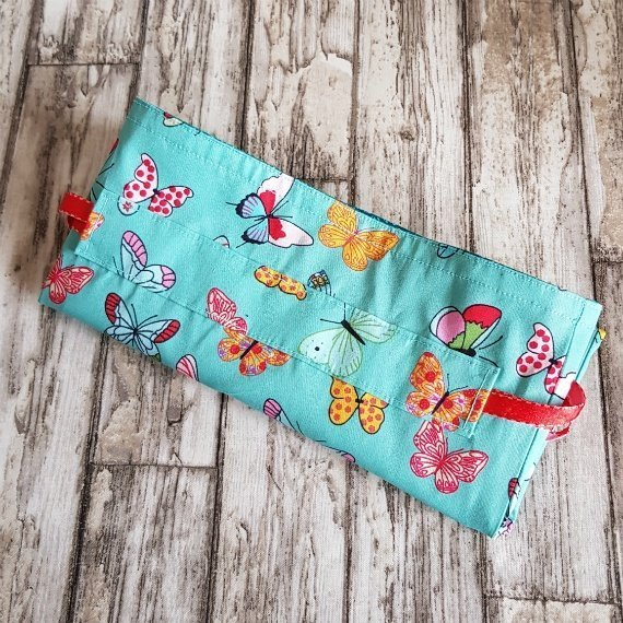 Handmade Butterfly Eco-Friendly Reusable Drawstring Gift / Storage Bag Kind Shop 9