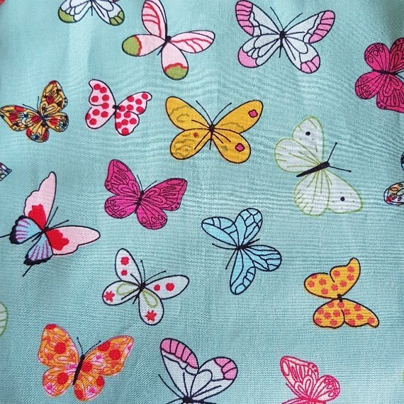 Handmade Butterfly Eco-Friendly Reusable Drawstring Gift / Storage Bag Kind Shop 10