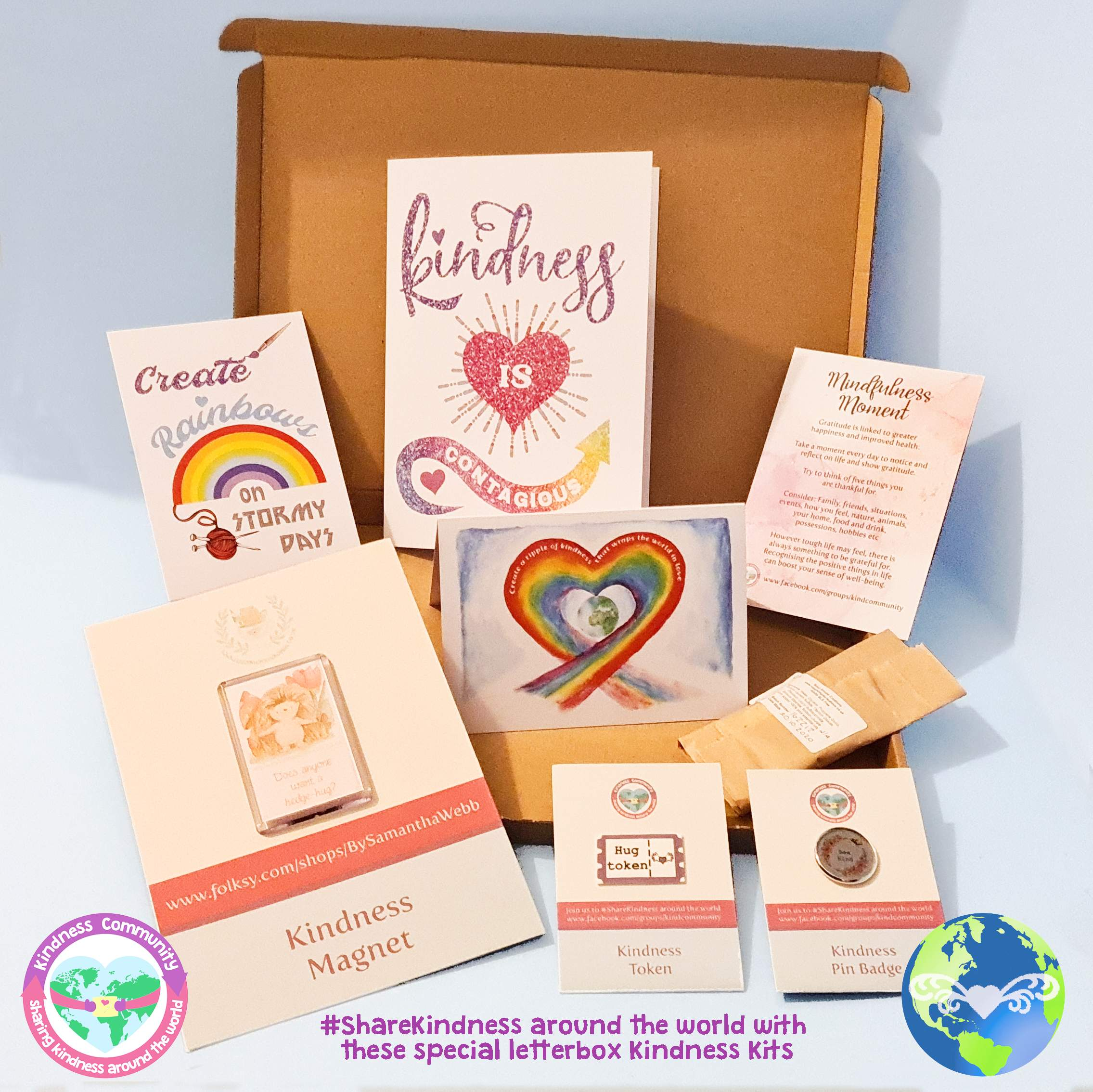 Kindness Kit Box 1 - Self Care Package Gift, Letterbox Friendly
