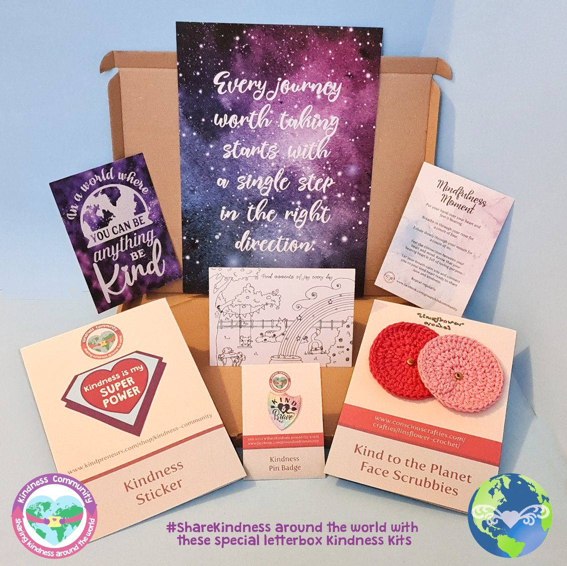 Kindness Kit Box 2 - Self Care Package Gift, Letterbox Friendly