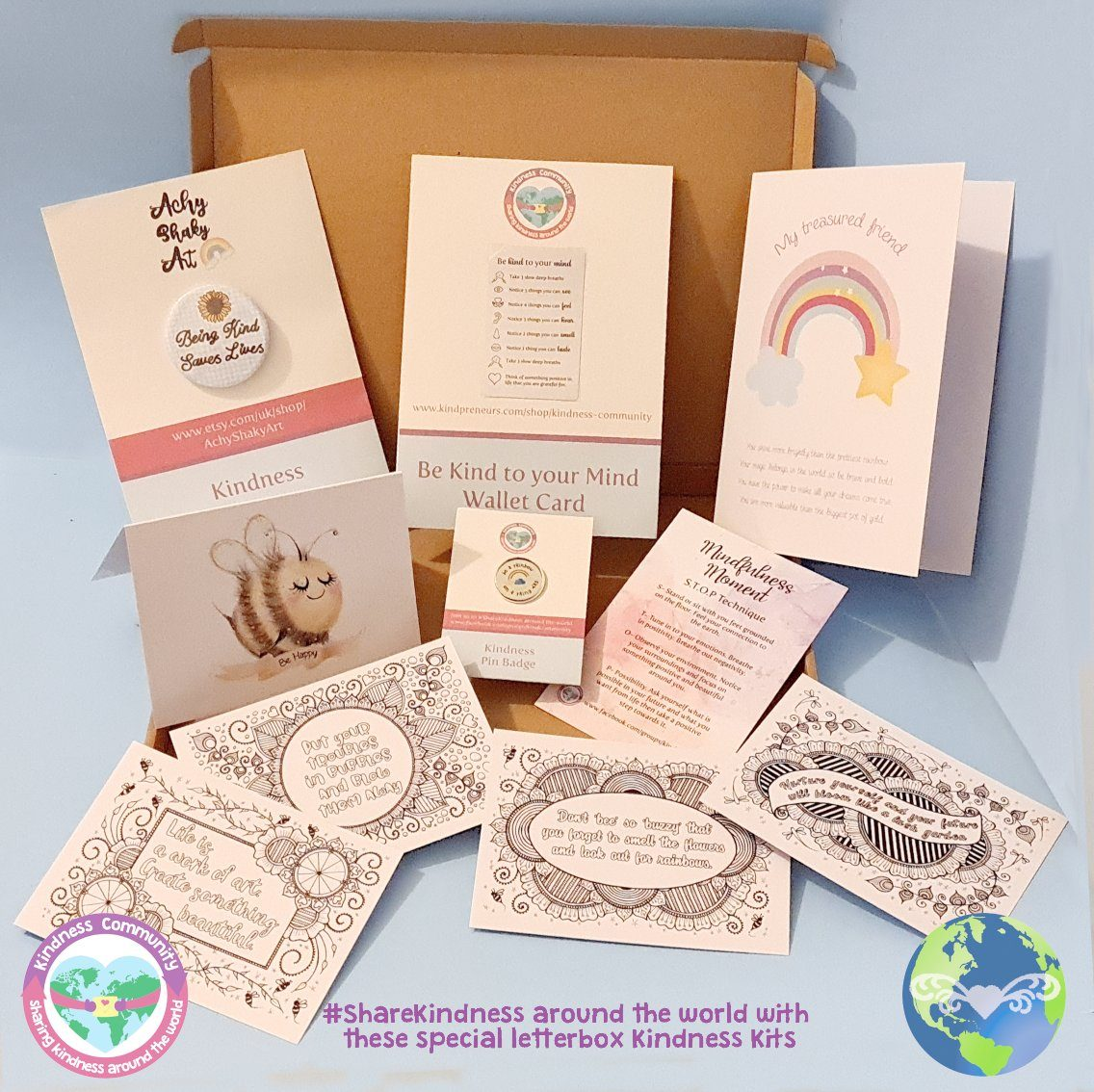 Kindness Kit Box 3 - Self Care Package Gift, Letterbox Friendly
