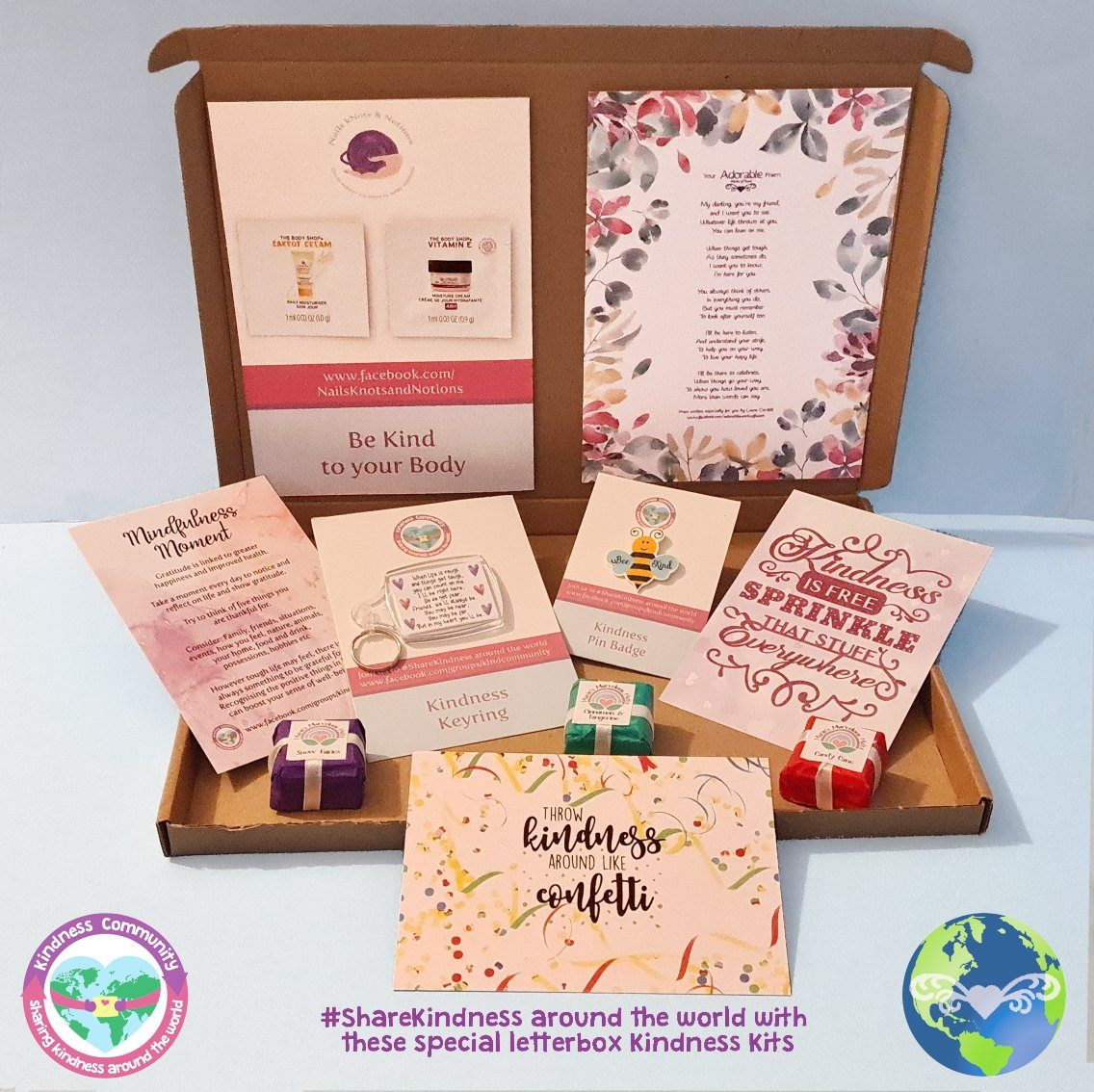 Kindness Kit Box 4 - Self Care Package Gift, Letterbox Friendly