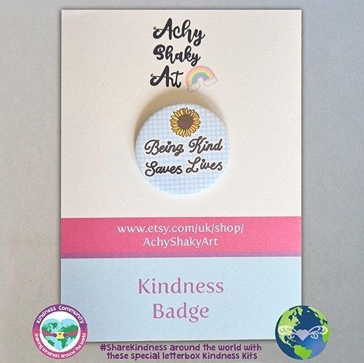 Kindness badge being kind saves lives kindpreneurs