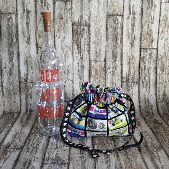 Music Cassettes Eco-Friendly Reusable Drawstring Gift Bag Or Storage Bag Kind Shop 3