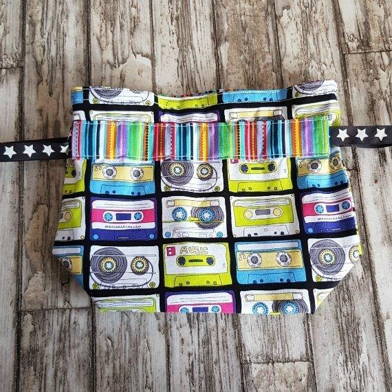 Music Cassettes Eco-Friendly Reusable Drawstring Gift Bag Or Storage Bag Kind Shop 4