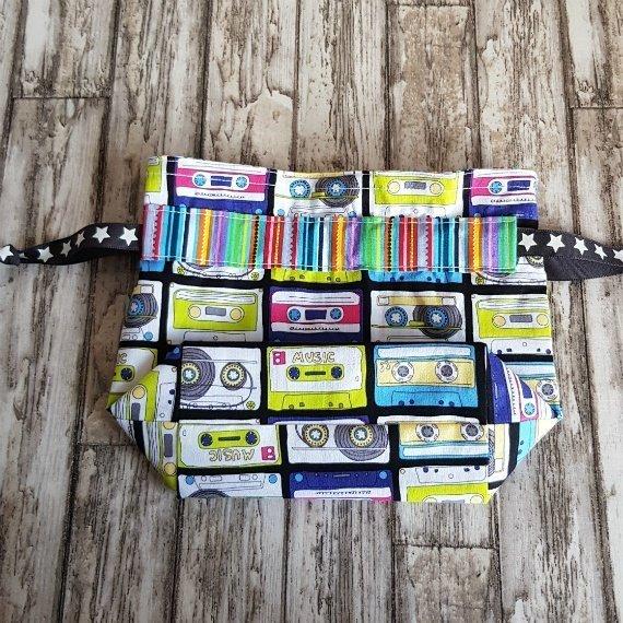 Music Cassettes Eco-Friendly Reusable Drawstring Gift Bag Or Storage Bag Kind Shop 5