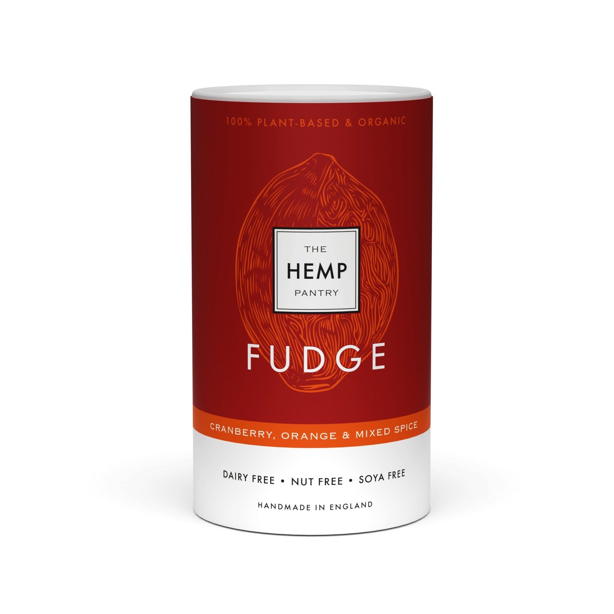 Organic Vegan Cranberry, Orange & Mixed Spice Fudge 175g Kind Shop