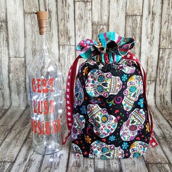Sugar Skull Eco-Friendly Reusable Drawstring Gift Bag Or Storage Bag Kind Shop 8