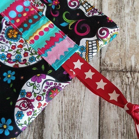 Sugar Skull Eco-Friendly Reusable Drawstring Gift Bag Or Storage Bag Kind Shop 4