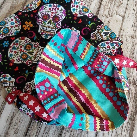 Sugar Skull Eco-Friendly Reusable Drawstring Gift Bag Or Storage Bag Kind Shop 3