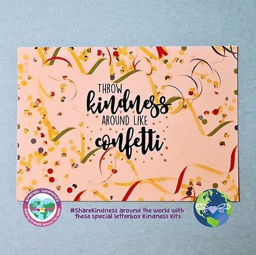 Throw kindness like confetti kindpreneurs