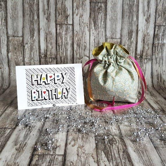 Tribal Swirls Eco-Friendly Reusable Drawstring Gift Bag Storage Bag Kind Shop 2
