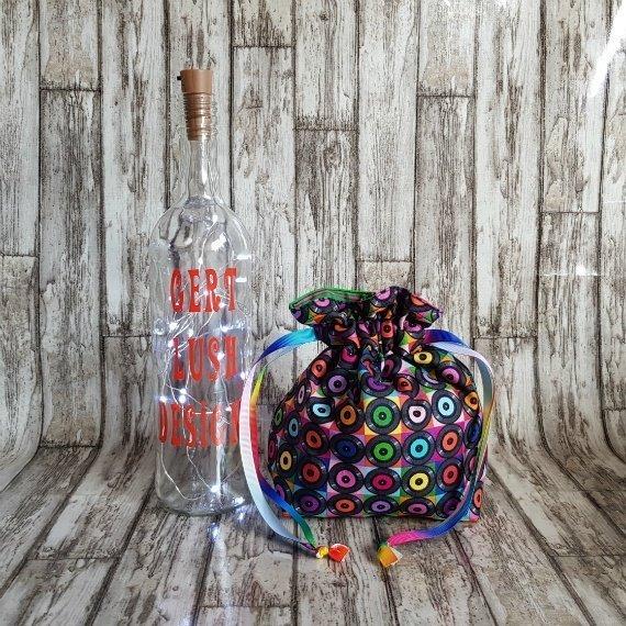 Vinyl Records Eco-Friendly Reusable Drawstring Gift Bag Storage Bag Kind Shop 3